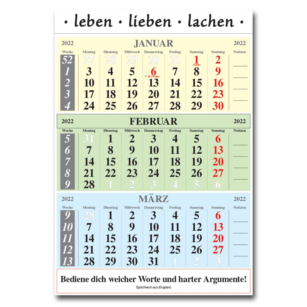 Leitspruch-Kalender-3-MONATSKALENDER 2022
