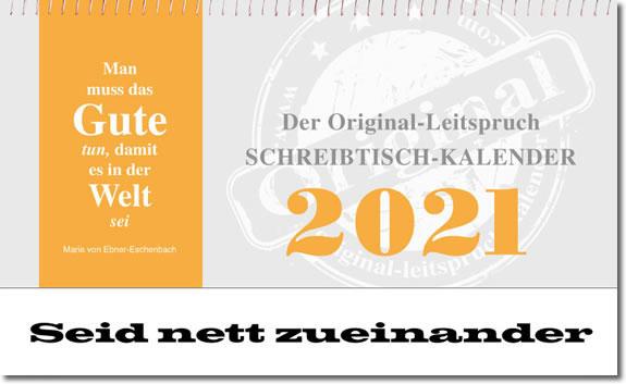 Leitspruch-Kalender-WOCHENSCHREIBTISCHKALENDER 2021 - ABVERKAUF