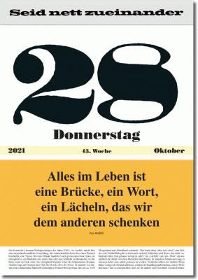 Der Leitspruch-Kalender von Impuls-Kalender GmbH