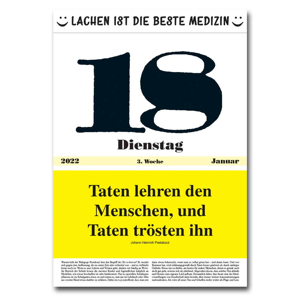 Leitspruch-Kalender-TAGESKALENDER 2022
