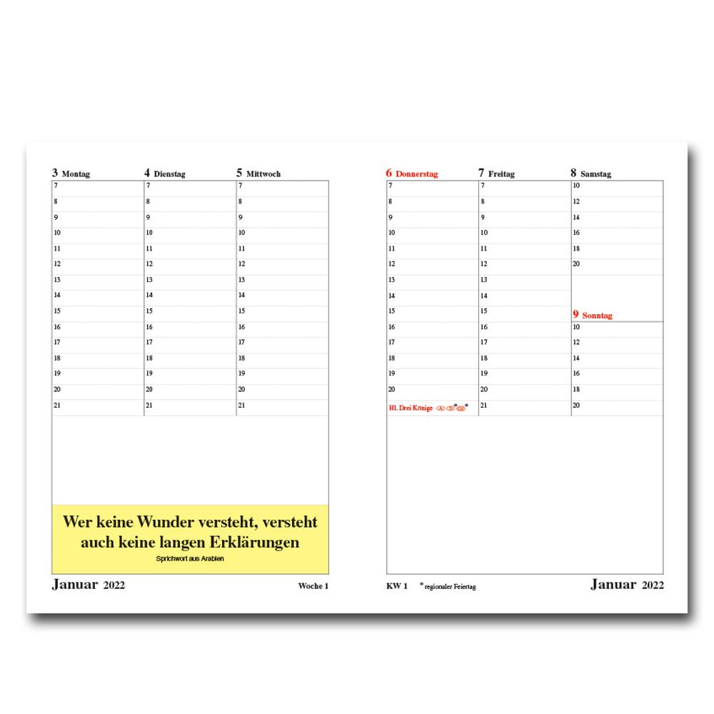 Leitspruch-Taschenkalender 2022 - in DIN A5 oder DIN A6