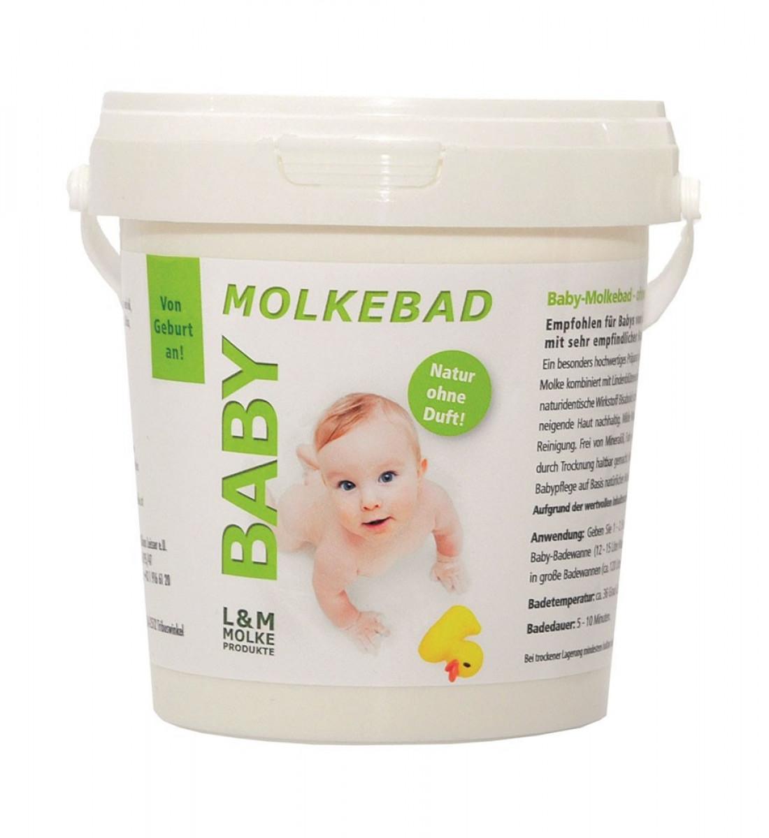 Molkebad für Baby ohne Duft und ohne Schaum 500 gr