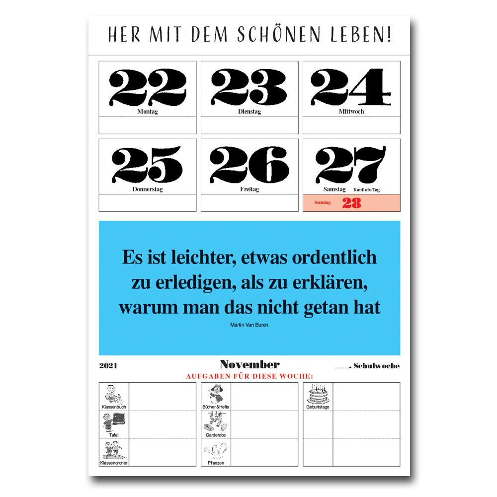 Leitspruch-Kalender-SCHULJAHRKALENDER 2021/2022