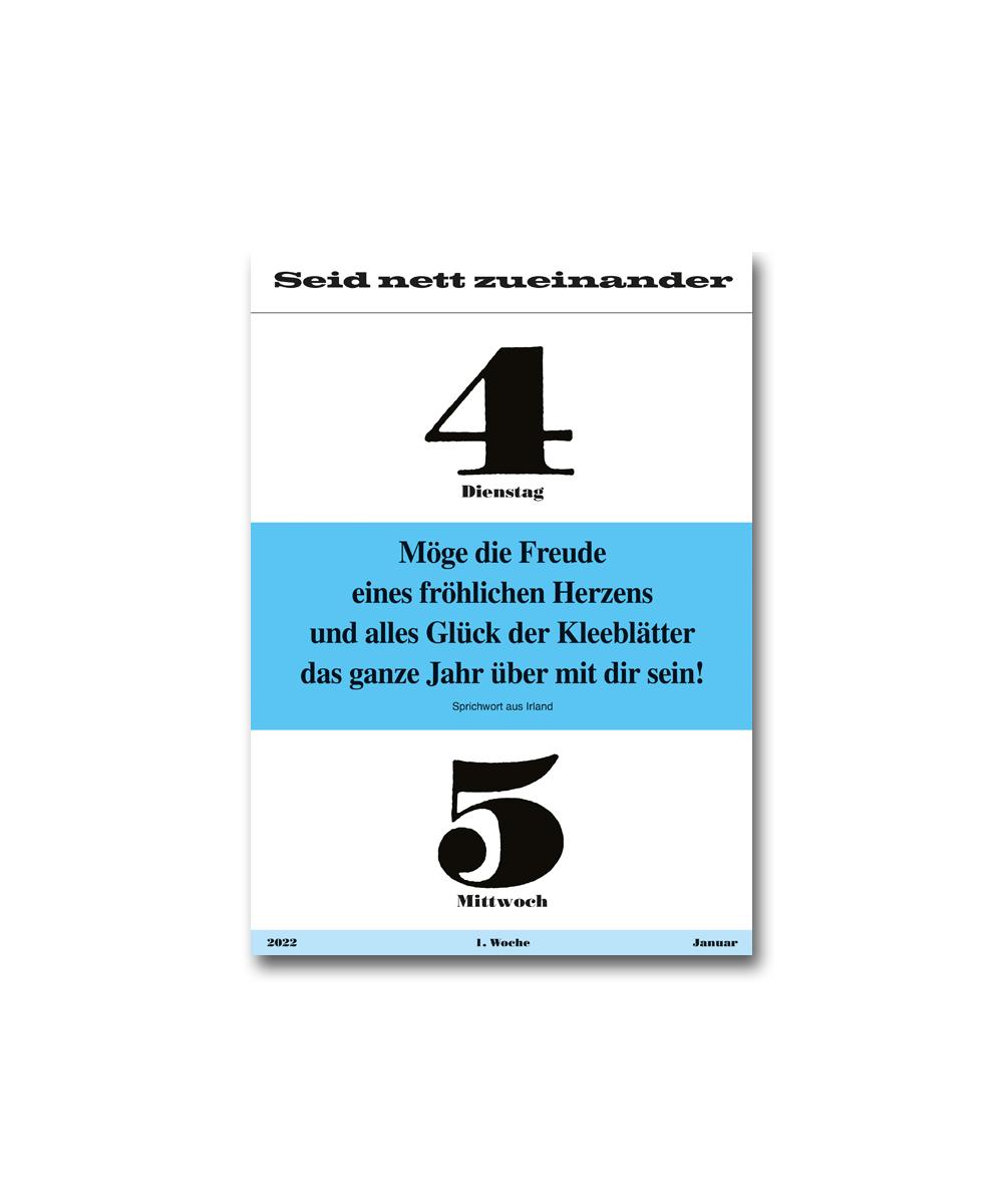 Leitspruch-Kalender-AUSLESEKALENDER 2022