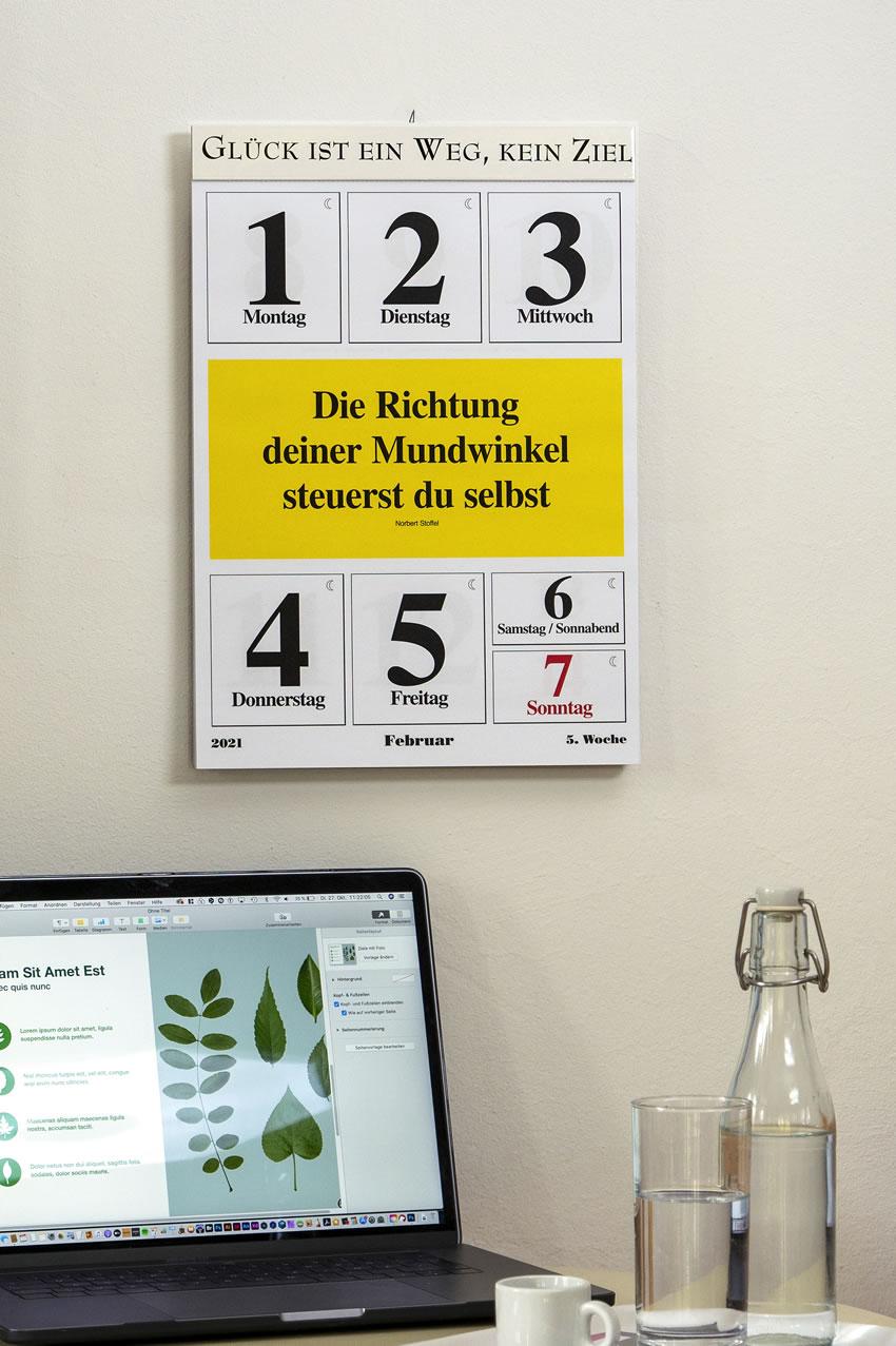 Leitspruch-Kalender-WOCHENKALENDER 2021 - ABVERKAUF