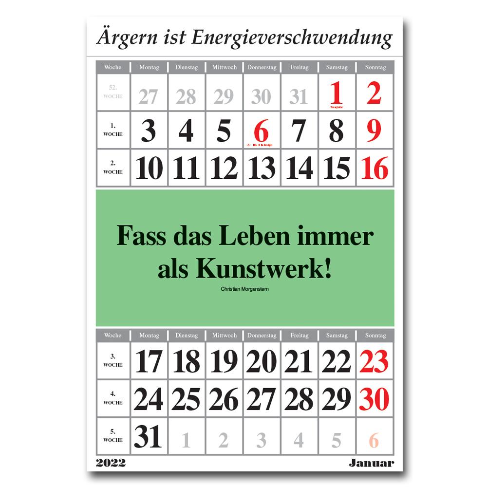 Leitspruch-Kalender-MONATSKALENDER 2022