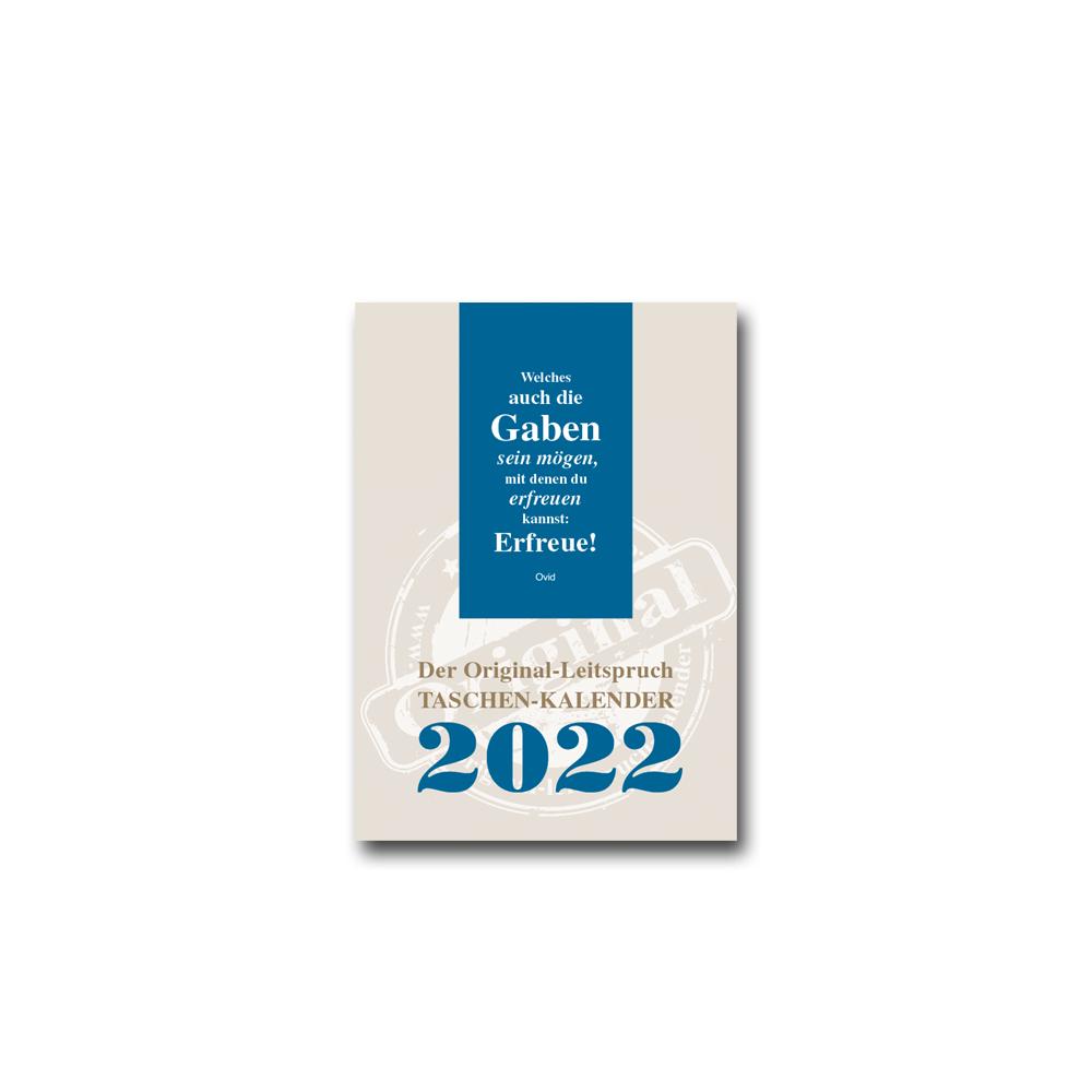 Leitspruch-Taschenkalender 2022 in DIN A6
