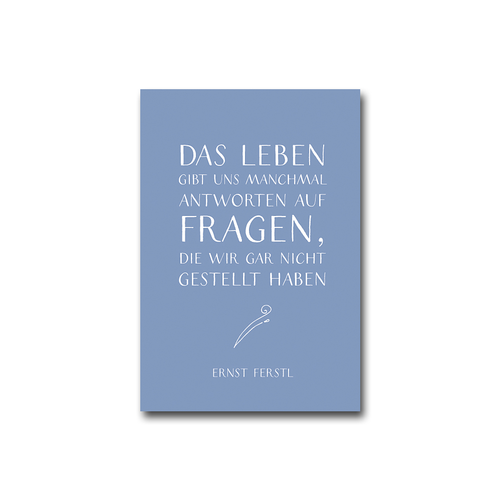 Spruch-Postkarten-Set in DIN A6 - Ernst Ferstl (12 Postkarten)