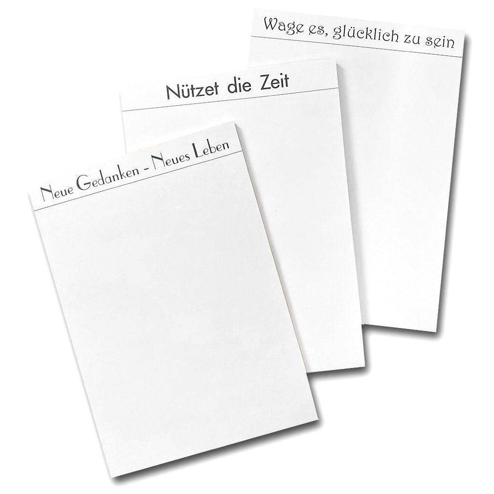 Spruchnotizblock DIN A5 im 3er-Set