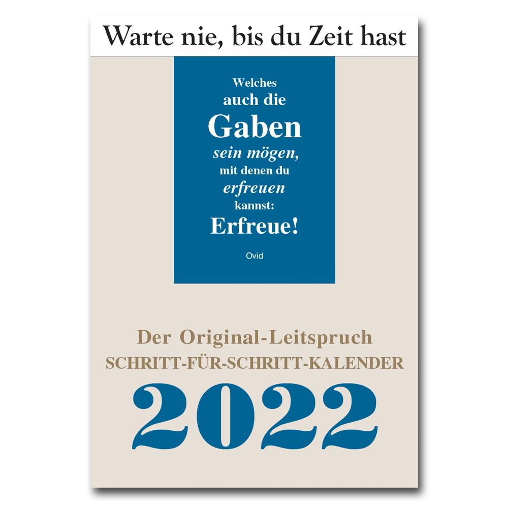 Leitspruch-Kalender-SCHRITT-FÜR-SCHRITT-Kalender 2022