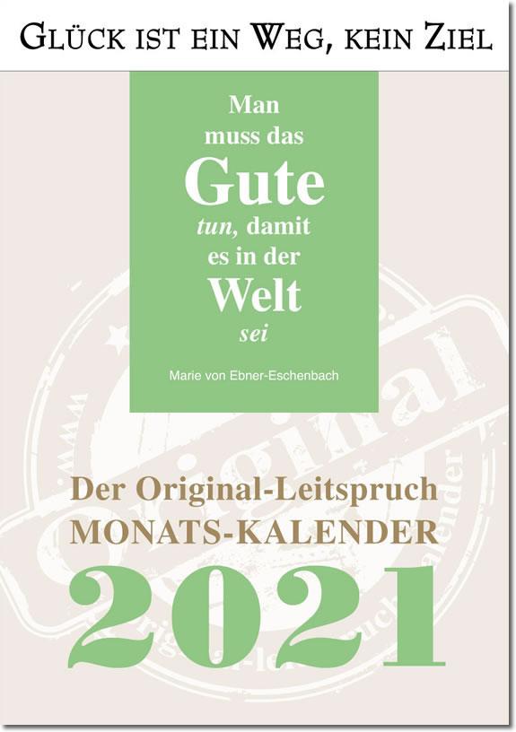 Leitspruch-Kalender-MONATSKALENDER 2021 - ABVERKAUF