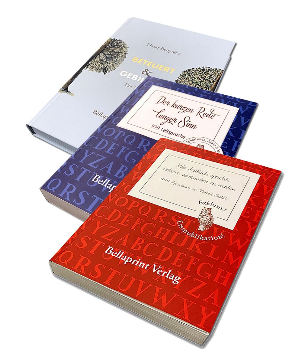 Spar-Angebot 1 Bellaprint Spruchbuch Set  - Stoffel | Hauschka | Benyoetz