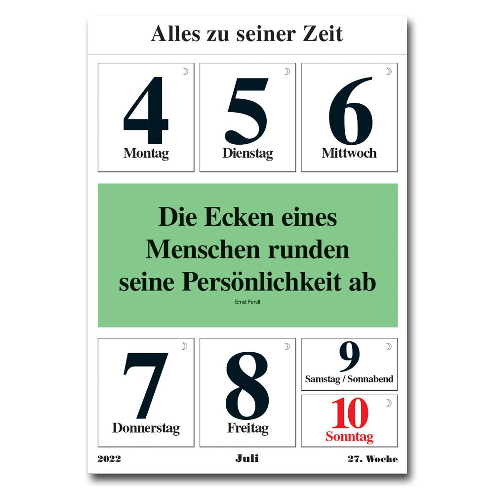 Leitspruch-Kalender-WOCHENKALENDER 2022