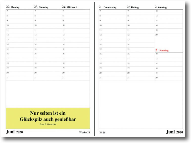 Leitspruch-Taschenkalender 2021 in DIN A5 oder DIN A6 - ABVERKAUF